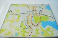 Макет расположения станций наземного метро